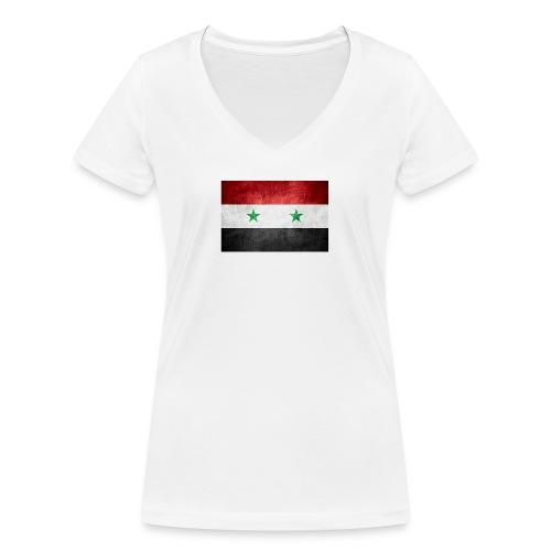 Syrien - Frauen Bio-T-Shirt mit V-Ausschnitt von Stanley & Stella
