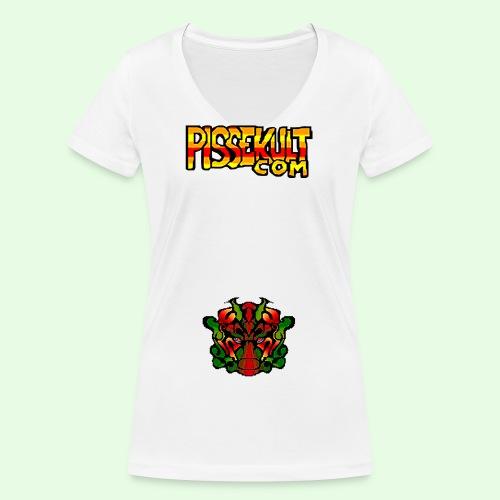 pisselogo - Økologisk T-skjorte med V-hals for kvinner fra Stanley & Stella