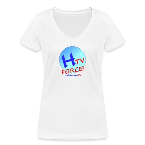 LOGO1.png - Camiseta ecológica mujer con cuello de pico de Stanley & Stella