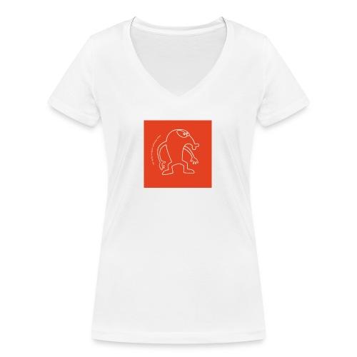 button vektor rot - Frauen Bio-T-Shirt mit V-Ausschnitt von Stanley & Stella