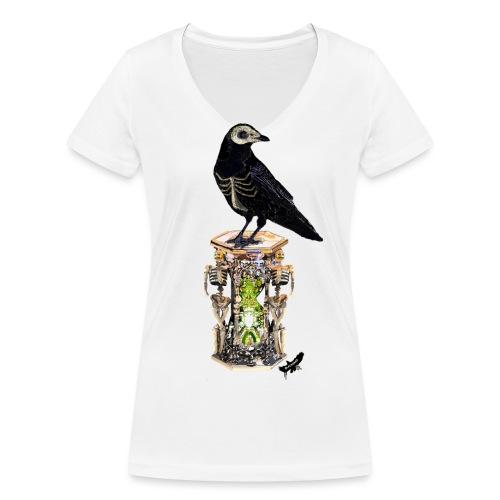 'Memento Mori' by BlackenedMoonArts - Økologisk Stanley & Stella T-shirt med V-udskæring til damer