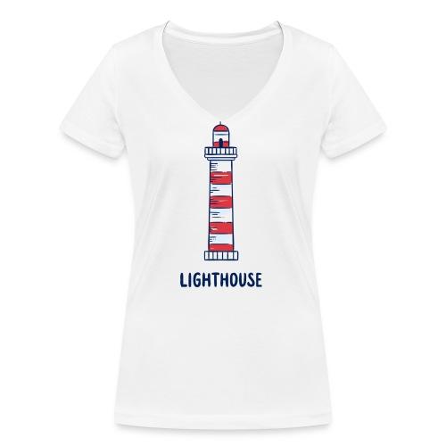 Lighthouse - Frauen Bio-T-Shirt mit V-Ausschnitt von Stanley & Stella