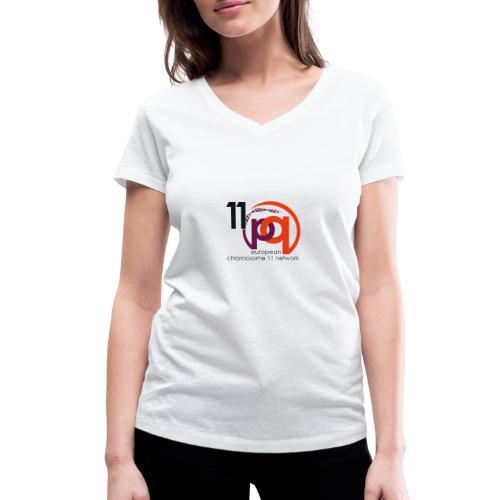 11q_logo_century - Frauen Bio-T-Shirt mit V-Ausschnitt von Stanley & Stella