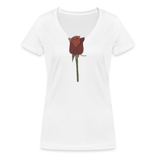 Rose - Frauen Bio-T-Shirt mit V-Ausschnitt von Stanley & Stella