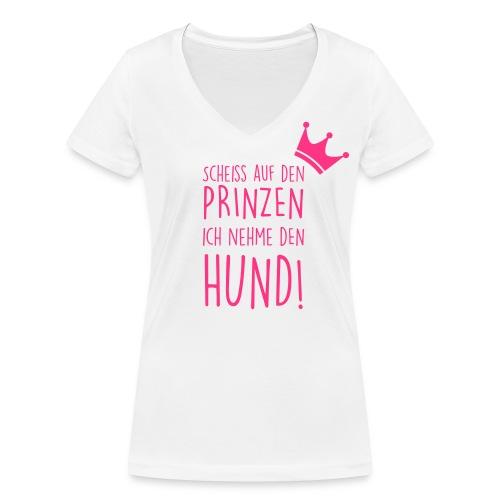 Vorschau: Prinz Hund - Frauen Bio-T-Shirt mit V-Ausschnitt von Stanley & Stella