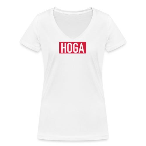HOGAREDBOX - Økologisk T-skjorte med V-hals for kvinner fra Stanley & Stella