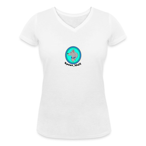Spoon_Wolf_2-png - Women's Organic V-Neck T-Shirt by Stanley & Stella