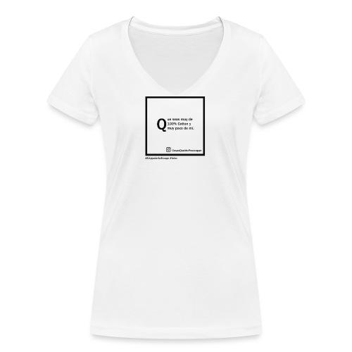 100 cotton - Camiseta ecológica mujer con cuello de pico de Stanley & Stella