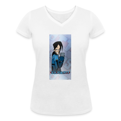 Valp Mobilskal png - Ekologisk T-shirt med V-ringning dam från Stanley & Stella