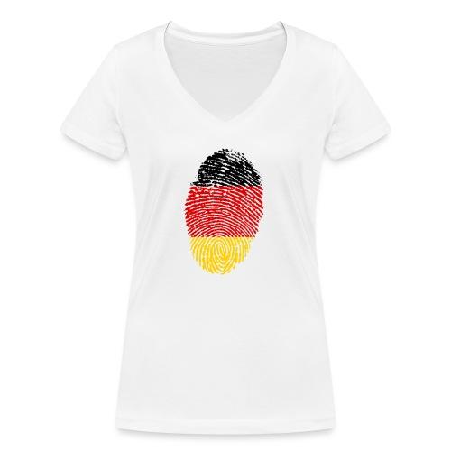 GERMANY FINGERPRINT - Women's Organic V-Neck T-Shirt by Stanley & Stella