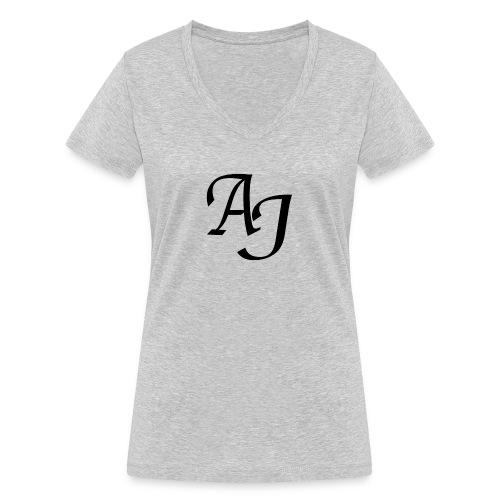 AJ Mouse Mat - Women's Organic V-Neck T-Shirt by Stanley & Stella