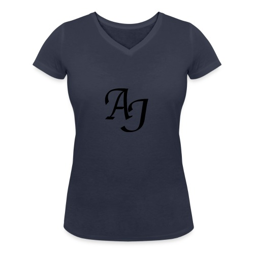 AJ Mouse Mat - Women's Organic V-Neck T-Shirt by Stanley & Stella