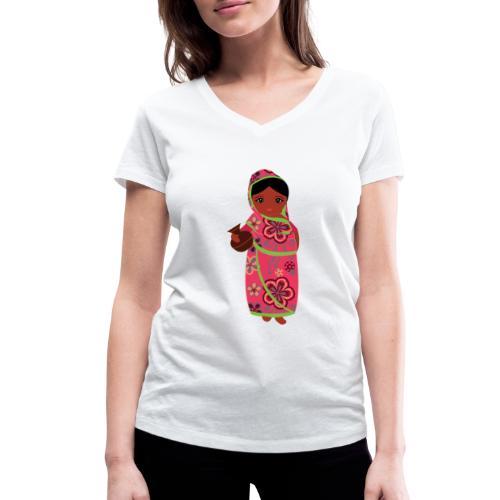 Lovedesh Art - Ira Kolshi Doll - Women's Organic V-Neck T-Shirt by Stanley & Stella