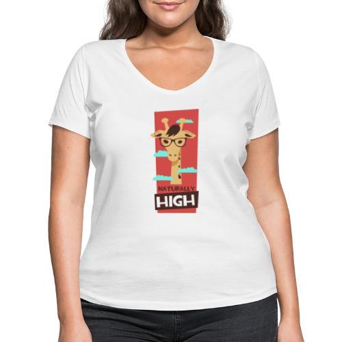 naturally high - Frauen Bio-T-Shirt mit V-Ausschnitt von Stanley & Stella