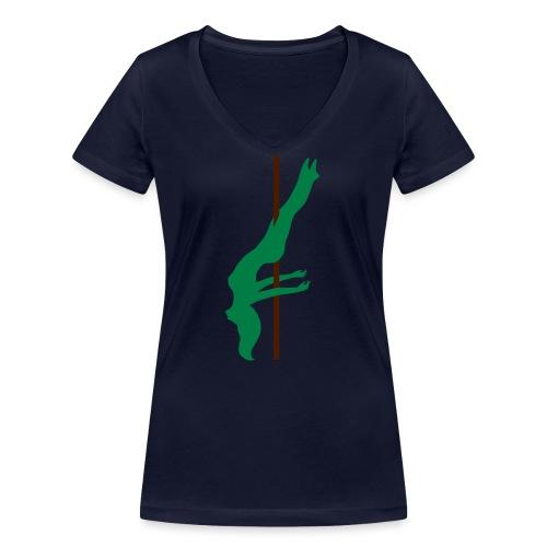 Pole Dance Pole Dancing - T-shirt ecologica da donna con scollo a V di Stanley & Stella