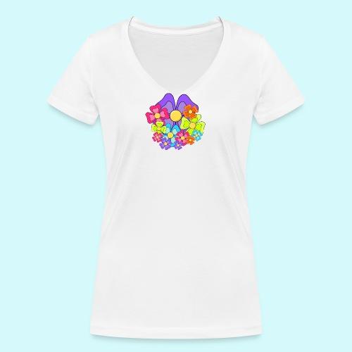 Blumen - Frauen Bio-T-Shirt mit V-Ausschnitt von Stanley & Stella