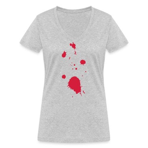 blut - Frauen Bio-T-Shirt mit V-Ausschnitt von Stanley & Stella