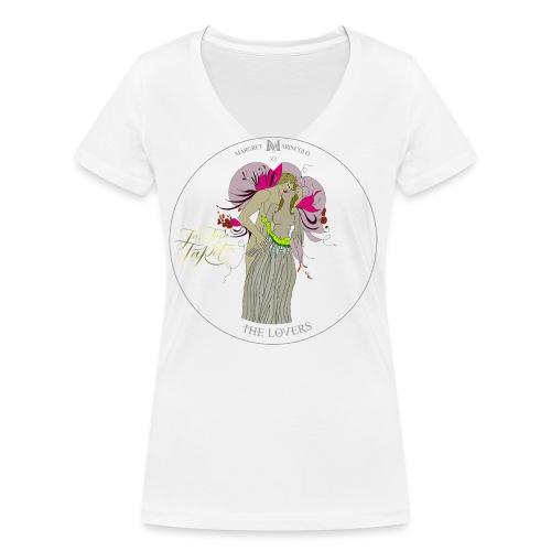 The Lovers | Die Liebenden Tarot Karte | Zwillinge - Frauen Bio-T-Shirt mit V-Ausschnitt von Stanley & Stella