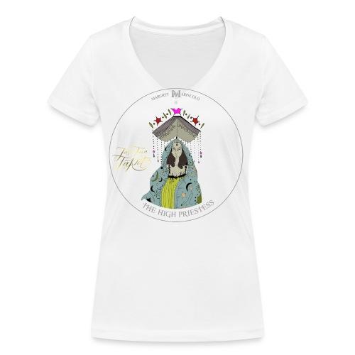 The HIGH PRIESTESS   Hohepriesterin Tarot Karte - Frauen Bio-T-Shirt mit V-Ausschnitt von Stanley & Stella