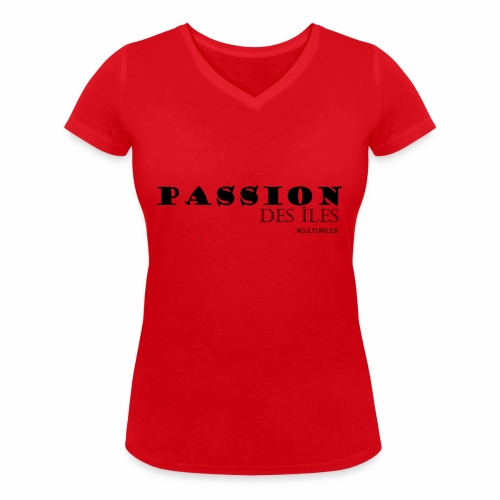 PASSION DES ILES - T-shirt bio col V Stanley & Stella Femme