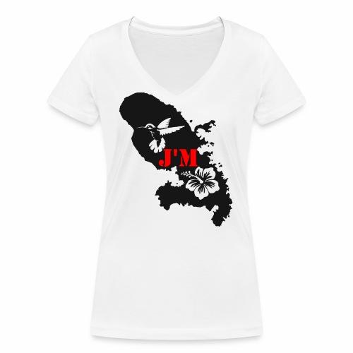 J'M La Martinique - T-shirt bio col V Stanley & Stella Femme