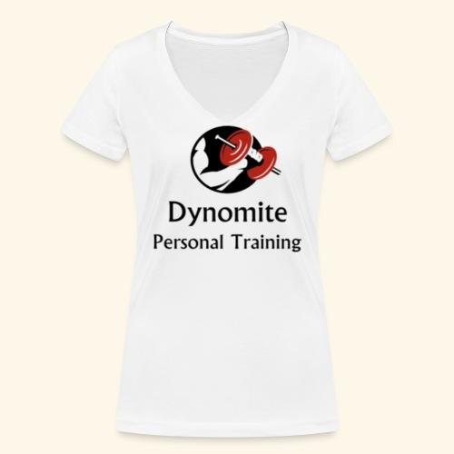 Dynomite Personal Training - Women's Organic V-Neck T-Shirt by Stanley & Stella