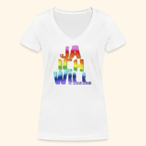 ja ich will! - Frauen Bio-T-Shirt mit V-Ausschnitt von Stanley & Stella