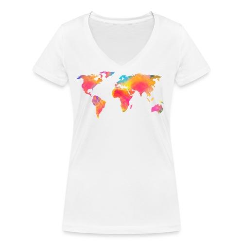 World - Frauen Bio-T-Shirt mit V-Ausschnitt von Stanley & Stella