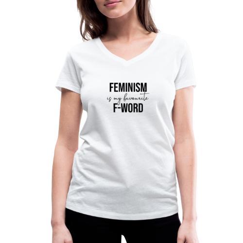 FEMINISM IS MY FAVOURITE F-WORD - Feminismus cool - Frauen Bio-T-Shirt mit V-Ausschnitt von Stanley & Stella