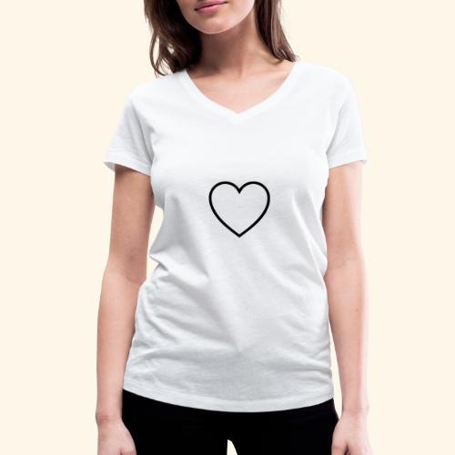 heart 512 - Økologisk Stanley & Stella T-shirt med V-udskæring til damer
