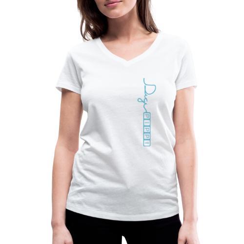 DP Logo Blue - Økologisk Stanley & Stella T-shirt med V-udskæring til damer