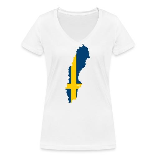 Sweden - Vrouwen bio T-shirt met V-hals van Stanley & Stella