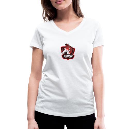 CLAN LOGO V3NTOM - Frauen Bio-T-Shirt mit V-Ausschnitt von Stanley & Stella