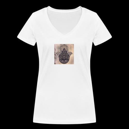 0fb3c3186e5803652adaa4a80715af22 - Vrouwen bio T-shirt met V-hals van Stanley & Stella