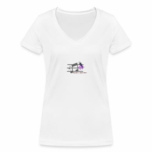 Arte h07 - Camiseta ecológica mujer con cuello de pico de Stanley & Stella
