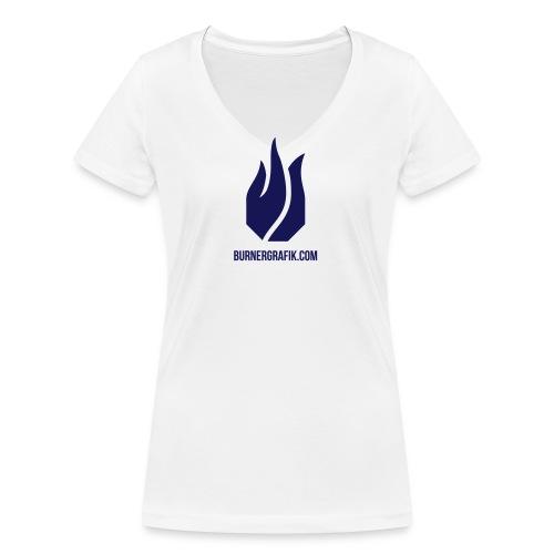 Flamme Only - Frauen Bio-T-Shirt mit V-Ausschnitt von Stanley & Stella