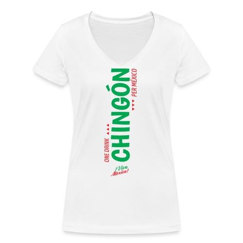 One Drink - Camiseta ecológica mujer con cuello de pico de Stanley & Stella