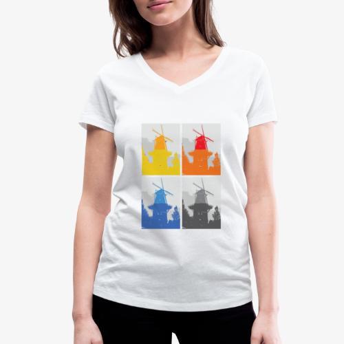 Mills - T-shirt ecologica da donna con scollo a V di Stanley & Stella