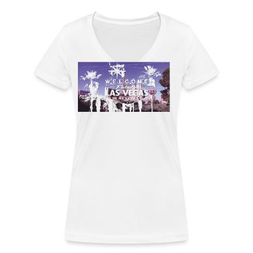 las vegas hotel jpg - Frauen Bio-T-Shirt mit V-Ausschnitt von Stanley & Stella