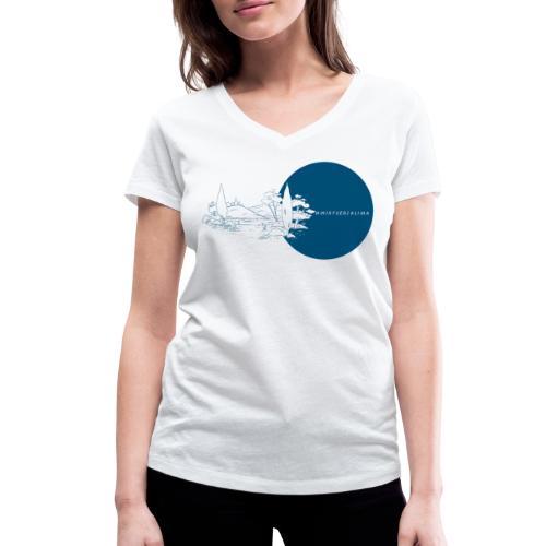 #wirfuersklima Landschaft mit Kreis - Frauen Bio-T-Shirt mit V-Ausschnitt von Stanley & Stella