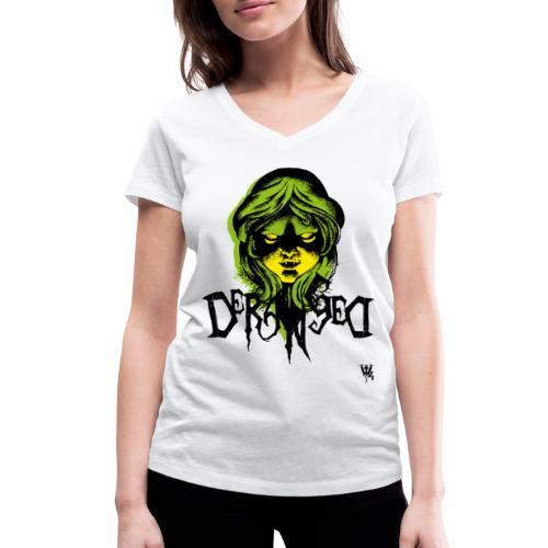 DerangeD - Tattoo Metal Horror Vampire - Økologisk Stanley & Stella T-shirt med V-udskæring til damer