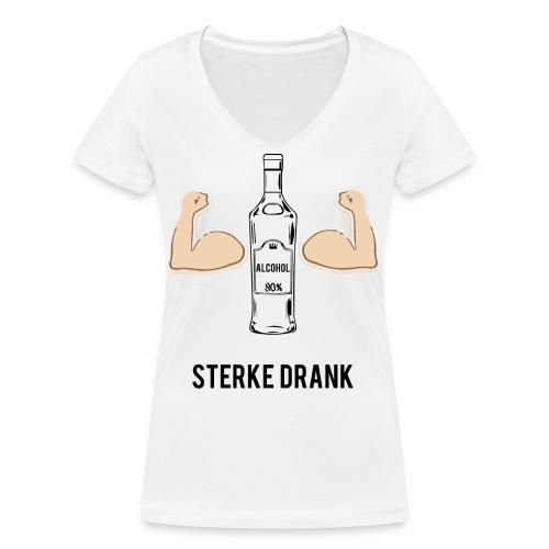 Sterke drank - Vrouwen bio T-shirt met V-hals van Stanley & Stella