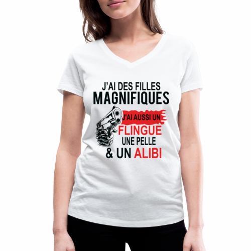 J'AI DEUX FILLES MAGNIFIQUES Best t-shirts 25% - T-shirt bio col V Stanley & Stella Femme