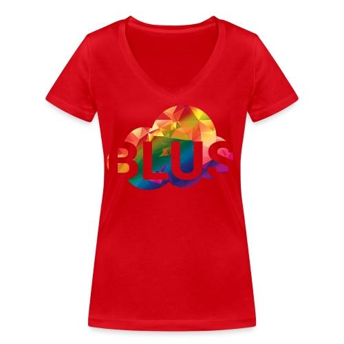 BURNER Logo - Women's Organic V-Neck T-Shirt by Stanley & Stella