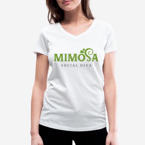 mimosa social diva - Frauen Bio-T-Shirt mit V-Ausschnitt von Stanley & Stella