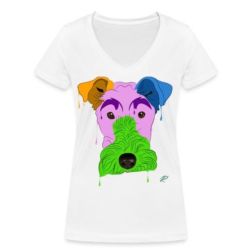 Fox Terrier - T-shirt ecologica da donna con scollo a V di Stanley & Stella