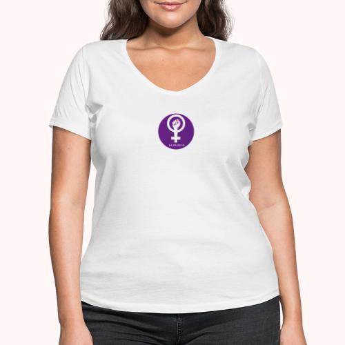 Logo Frauenstreik - Logo de la Grève feministe - Frauen Bio-T-Shirt mit V-Ausschnitt von Stanley & Stella