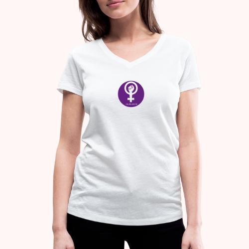 Logo Strike femminile - Logo de la Grève feministe - T-shirt ecologica da donna con scollo a V di Stanley & Stella