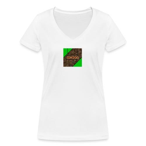 Wokky T Shirt - Ekologisk T-shirt med V-ringning dam från Stanley & Stella