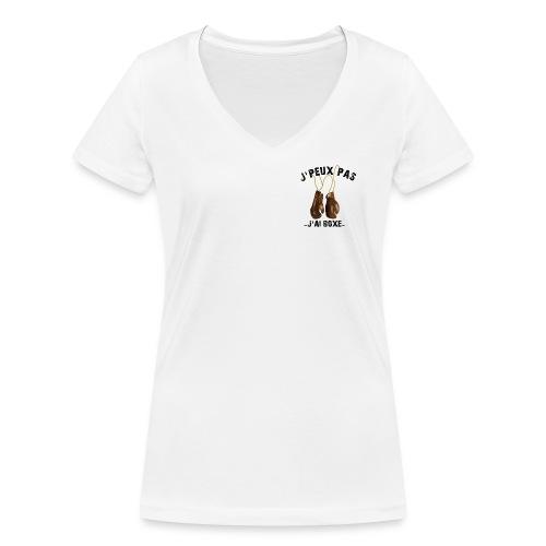 J'peux pas j'ai boxe ! - T-shirt bio col V Stanley & Stella Femme